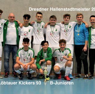 B-Junioren der Kickers gewinnen die Hallenstadtmeisterschaft 2020 in Dresden!