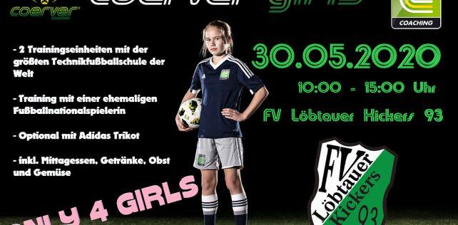 Mädchen aufgepasst! Am 30. Mai ist Coerver Girls Day